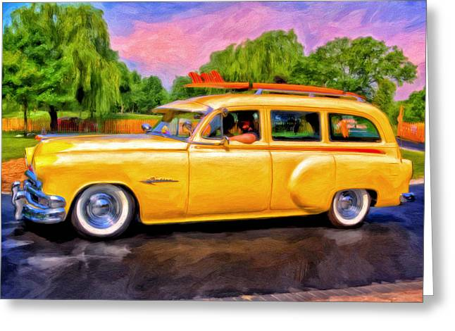 Station Wagon Greeting Cards - Pontiac Surf Wagon Greeting Card by Michael Pickett