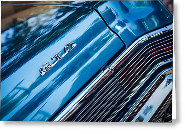 Pontiac Gto Greeting Cards - Pontiac Taillight Emblem Greeting Card by Jill Reger