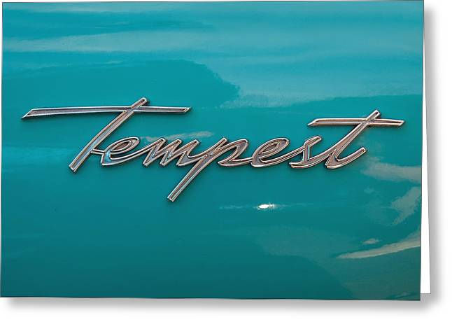 Custom Automobile Greeting Cards - Pontiac Tempest Logo Greeting Card by Charlette Miller