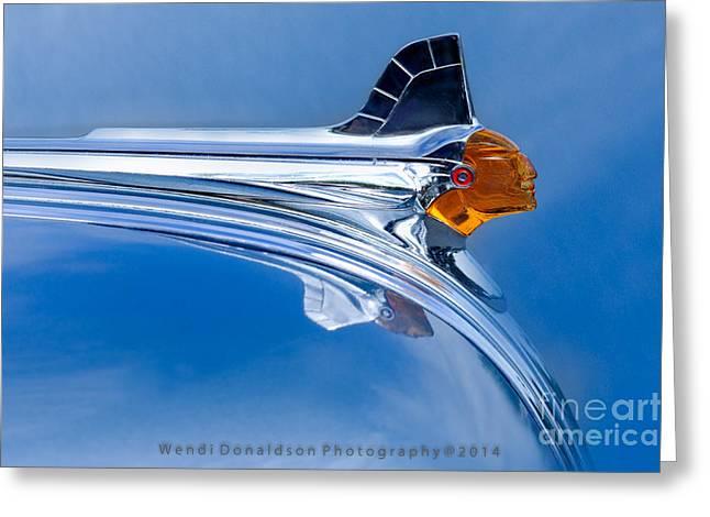 Car Insignia Greeting Cards - Pontiac Greeting Card by Wendi Donaldson