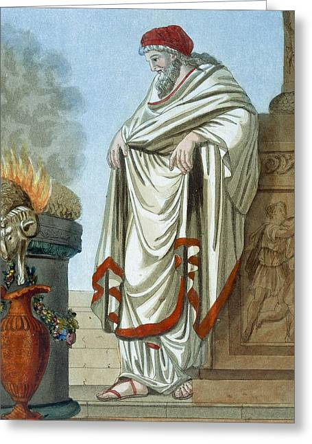 Pontifex Maximus, Illustration Greeting Card by Jacques Grasset de Saint-Sauveur