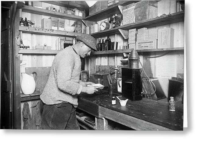 Ponting's Darkroom In Antarctica Greeting Card by Scott Polar Research Institute