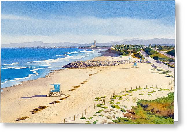 Southern California Beach Greeting Cards - Ponto Beach Carlsbad California Greeting Card by Mary Helmreich