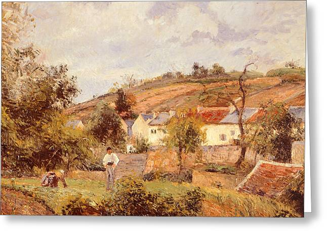 Family Member Greeting Cards - Pontoise Greeting Card by Camille Pissarro