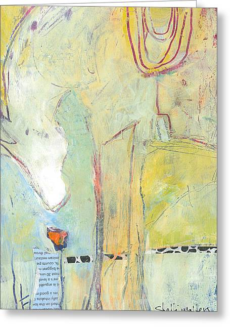 White Stallion Greeting Cards - Pony I Greeting Card by Shelli Walters