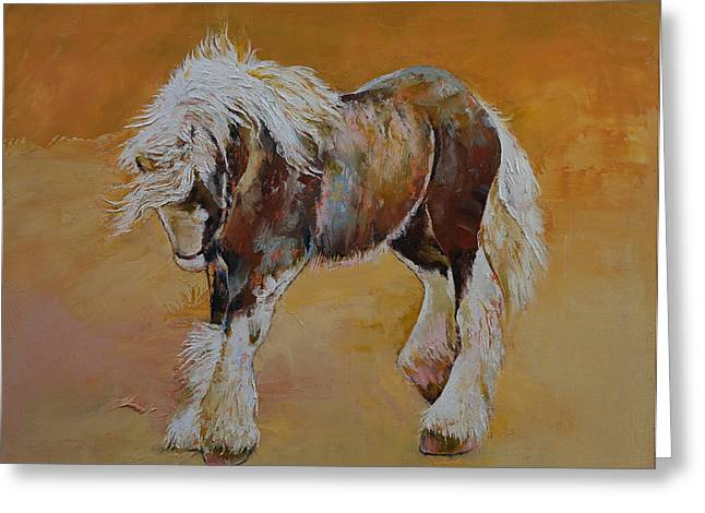 Cheval Greeting Cards - Gypsy Horse Greeting Card by Michael Creese