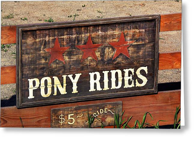 Pony Rides Greeting Card by Art Block Collections