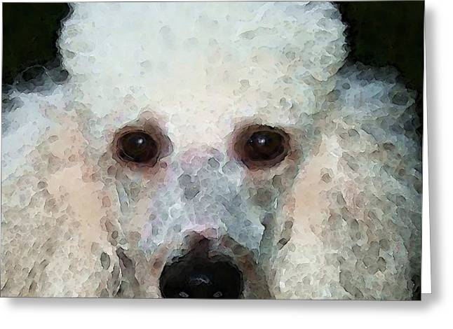 Animal Lovers Greeting Cards - Poodle Art - Noodles Greeting Card by Sharon Cummings