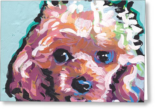 Playroom Greeting Cards - Poodle Baby Greeting Card by Lea