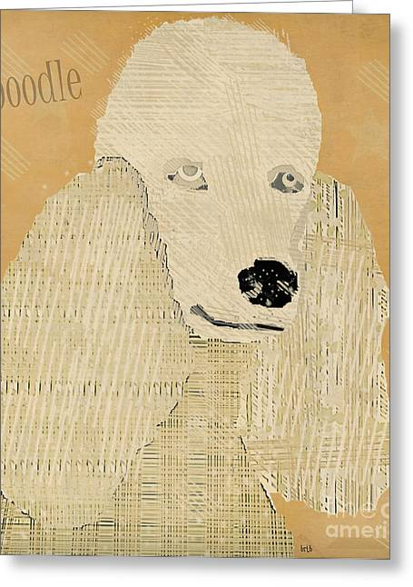 Pitty Greeting Cards - Poodle Dog  Greeting Card by Bri Buckley