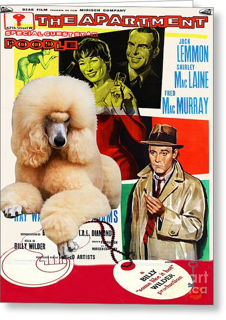 Dog Prints Greeting Cards - Poodle Standard Art - The Apartment Movie Poster Greeting Card by Sandra Sij