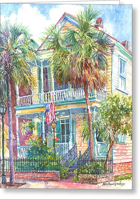 Palmetto Trees Greeting Cards - Poogans Porch Greeting Card by Alice Grimsley