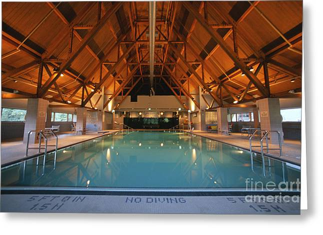 Alaskan Architecture Greeting Cards - Pool Greeting Card by Chris Selby