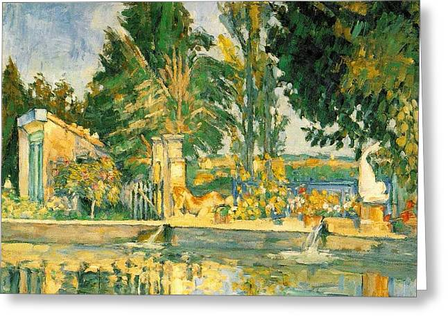 Pool Greeting Card by Paul  Cezanne