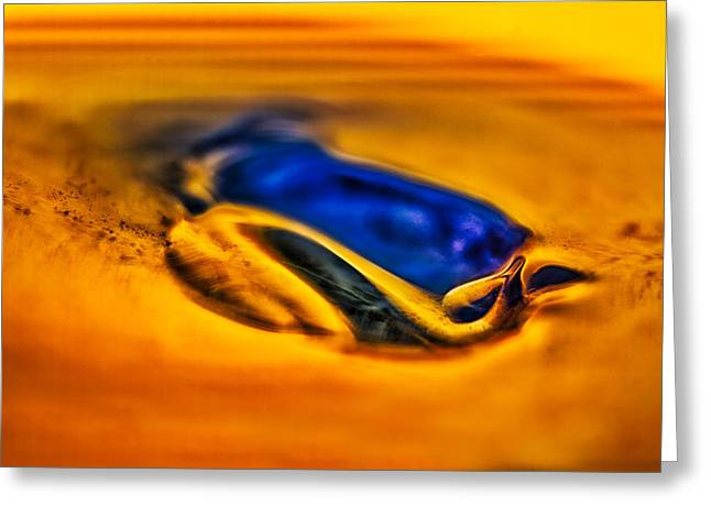 Ceramic Glass Art Greeting Cards - Pools of Color Greeting Card by Omaste Witkowski