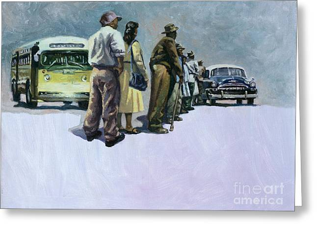 Civil Rights Paintings Greeting Cards - Pools of Defiance Greeting Card by Colin Bootman