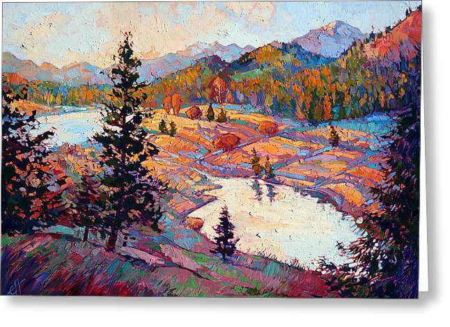 Erin Greeting Cards - Pools of Light Greeting Card by Erin Hanson