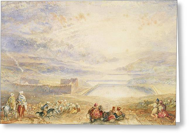 Jmw Greeting Cards - Pools of Solomon Greeting Card by Joseph Mallord William Turner