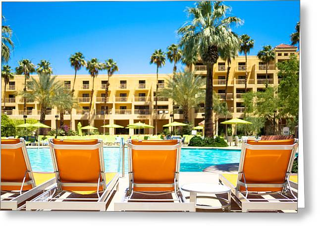 Chaise Greeting Cards - Poolside at the Renaissance Hotel Greeting Card by Ben Carroll
