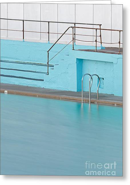 Step Ladder Greeting Cards - Poolside Greeting Card by Richard Thomas