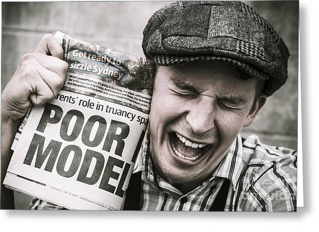 Poor Model Greeting Card by Jorgo Photography - Wall Art Gallery