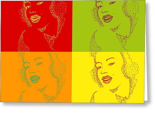 Marlyn Greeting Cards - Pop Art Greeting Card by Anne Costello