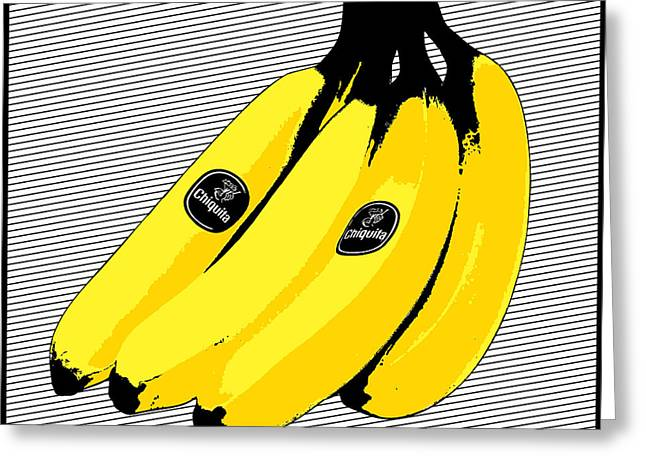 Decorative Greeting Cards - POP Art Bananas Greeting Card by Gary Grayson