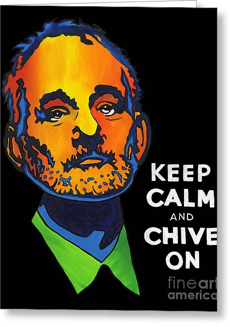 Wow Paintings Greeting Cards - Pop Art Bill Murray Greeting Card by Cevin Cox