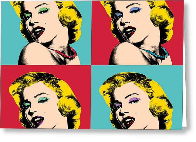 Pop Art Collage  Greeting Card by Mark Ashkenazi