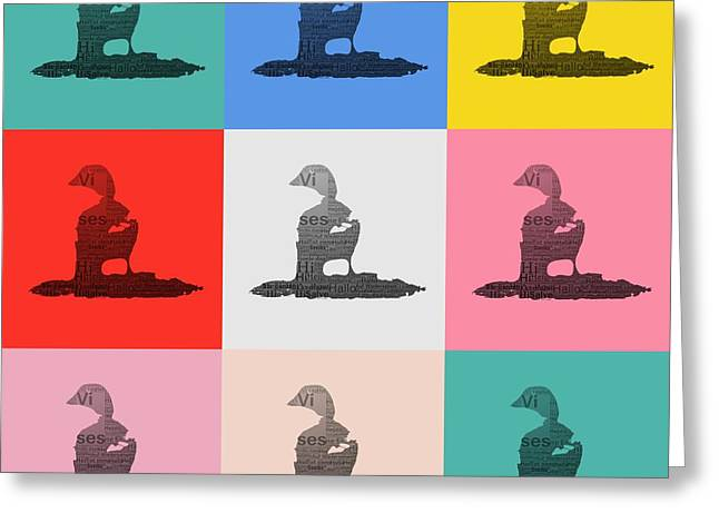 Ducklings Mixed Media Greeting Cards - Pop Art Ducks Greeting Card by Toppart Sweden