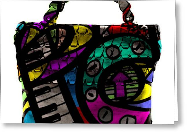 Color Image Greeting Cards - Pop Art Hand Bag Painting Greeting Card by Marvin Blaine