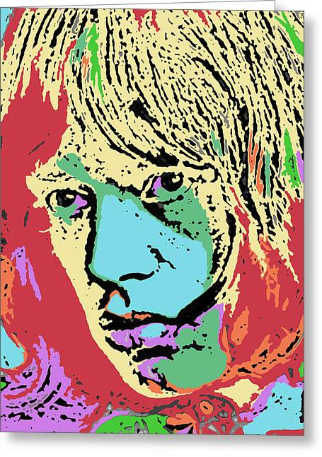 Artist Singer Greeting Cards - Pop Art Jagger Greeting Card by David G Paul