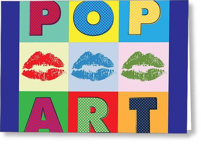 Pop Art Lips Greeting Card by Gary Grayson