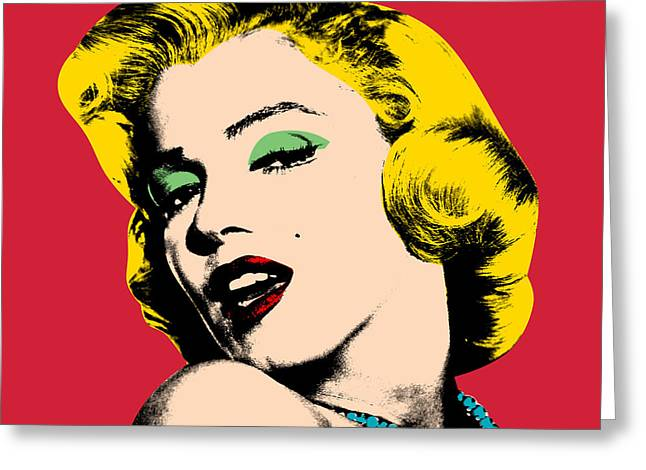 Famous Women Greeting Cards - Pop Art Greeting Card by Mark Ashkenazi