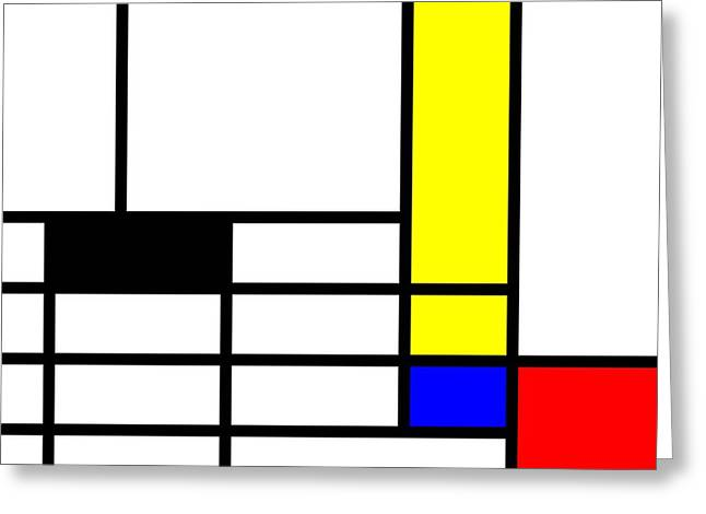 Visual Quality Mixed Media Greeting Cards - Pop-Art mondriaan Greeting Card by Toppart Sweden