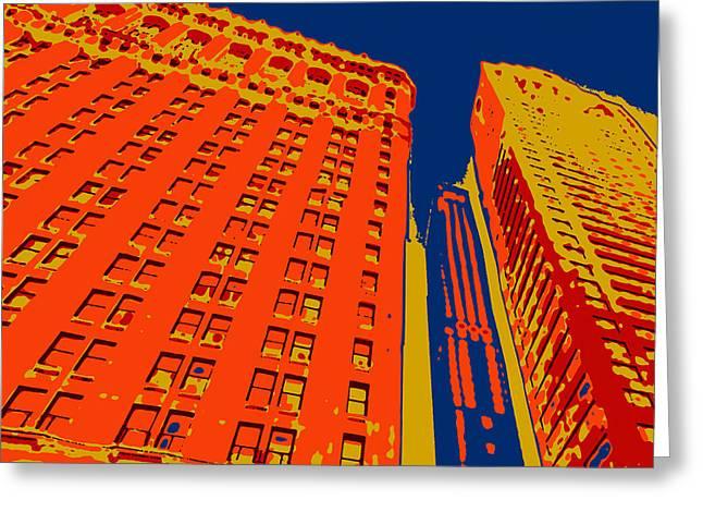 Times Square Digital Greeting Cards - Pop Art NYC 2 Greeting Card by David G Paul