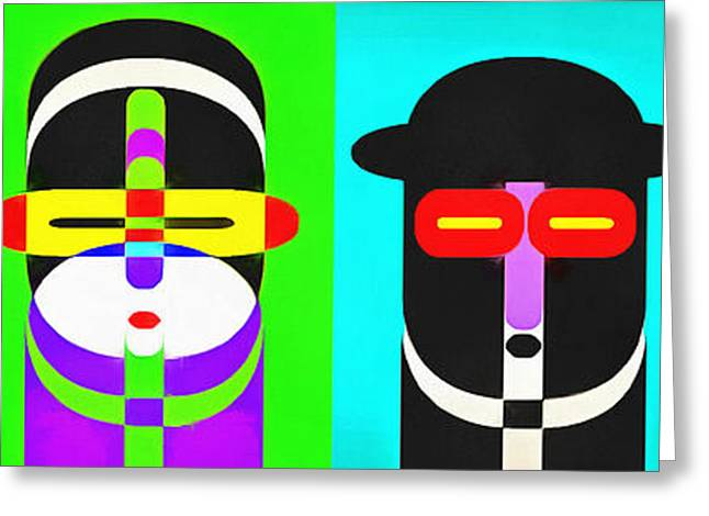 Pop Photographs Greeting Cards - Pop Art People 4 Row Greeting Card by Edward Fielding
