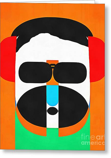 Hipster Greeting Cards - Pop Art People Hipster Greeting Card by Edward Fielding