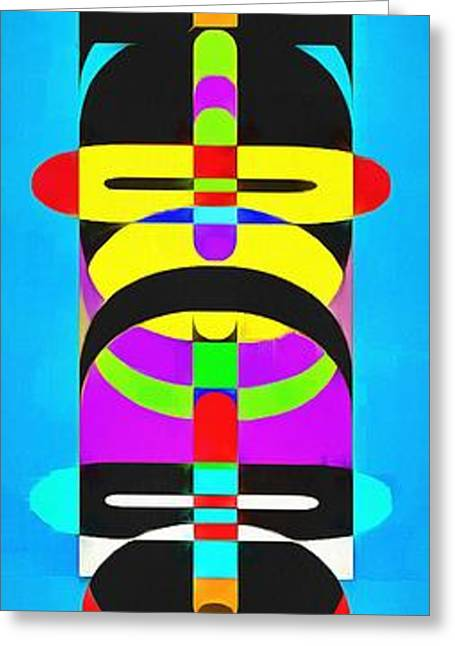 Pop Photographs Greeting Cards - Pop Art People Totem 2 Greeting Card by Edward Fielding