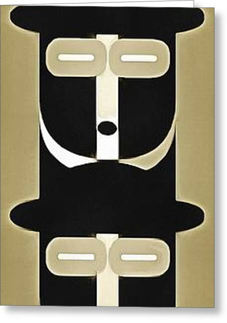 Stack Greeting Cards - Pop Art People Totem 5 Greeting Card by Edward Fielding