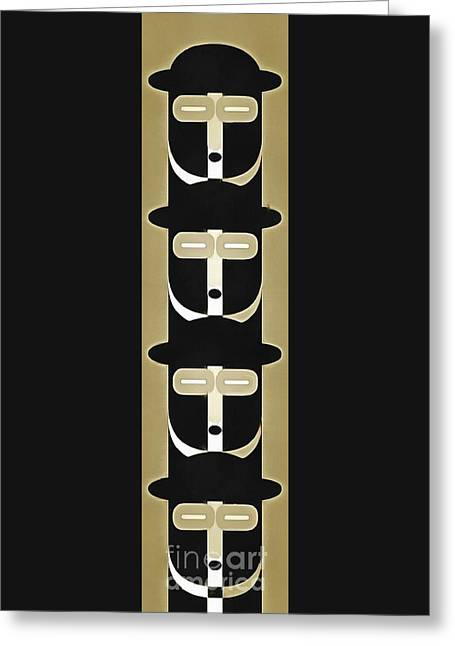 Stack Digital Greeting Cards - Pop Art People Totem 5 Greeting Card by Edward Fielding