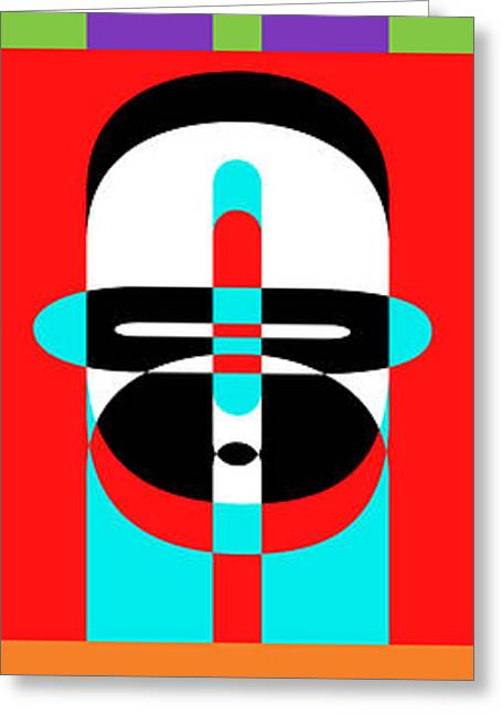 Pop Photographs Greeting Cards - Pop Art People Totem Greeting Card by Edward Fielding