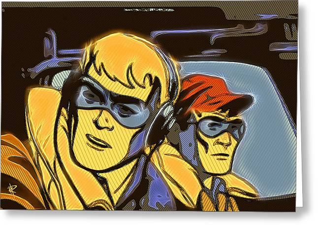 Headphones Greeting Cards - Pop Art Pilots Greeting Card by Russell Pierce