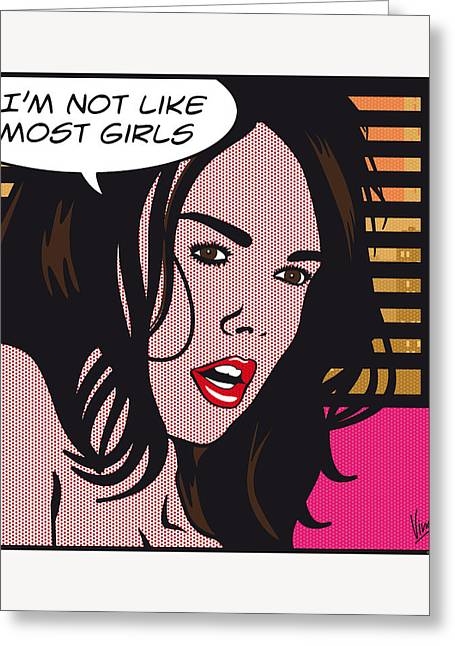 Portrait Digital Greeting Cards - Pop Art Porn Stars - Dillion Harper Greeting Card by Chungkong Art