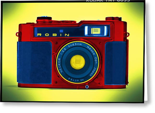 Rangefinder Greeting Cards - PoP aRt RoBiN Greeting Card by Mike McGlothlen