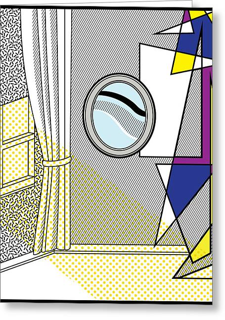Abstract Shapes Greeting Cards - POP Art Room Greeting Card by Gary Grayson