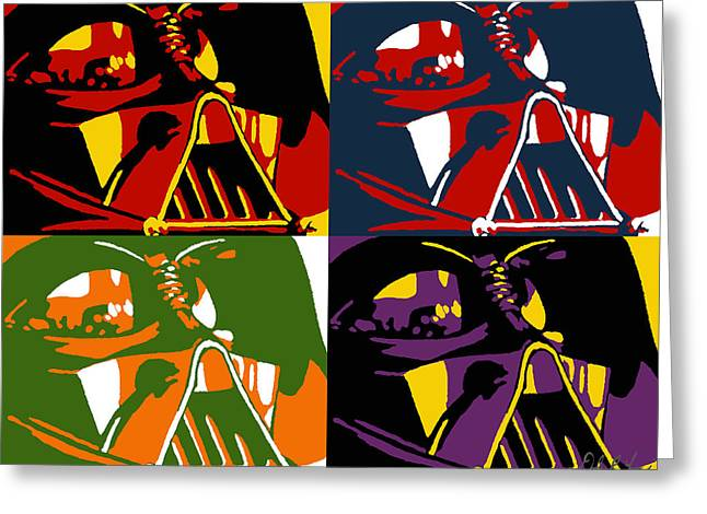 Pop Paintings Greeting Cards - Pop Art Vader Greeting Card by Dale Loos Jr