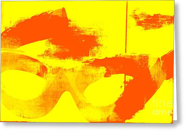 Pop Art Vintage Glasses  Greeting Card by AdSpice Studios