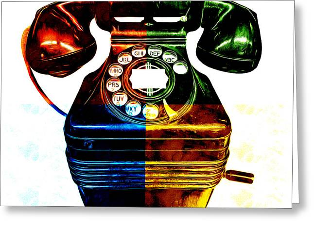 Artist Photographs Greeting Cards - Pop Art Vintage Telephone 4 Greeting Card by Edward Fielding