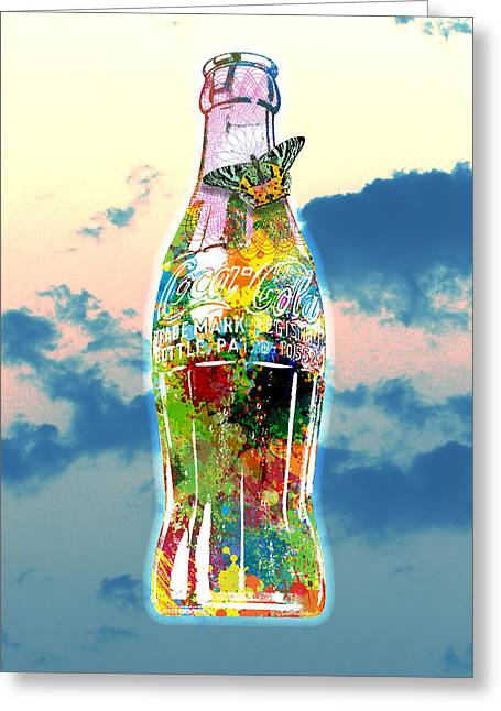 Decorative Greeting Cards - POP Coke Bottle Greeting Card by Gary Grayson